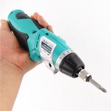 维修电动螺丝刀3.6V折叠手枪式锂电迷你充电电钻电批
