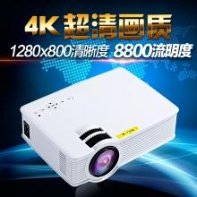 LED微型高清投影仪电视wifi宽屏806A无线3D投影机智能安卓
