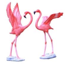 大号户外动物仿真火烈鸟雕塑玻璃钢工艺品园林假山花园庭院装饰品