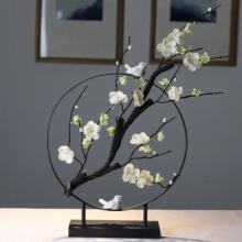 新中式梅花创意摆件客厅电视酒柜现代家居软装饰品博古架茶桌摆设
