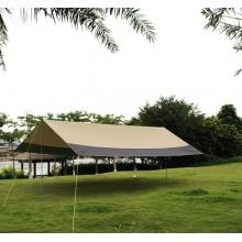 野外简易超大天幕帐篷户外遮阳棚防晒银胶布5*8防雨棚紫外线