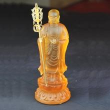 地藏王菩萨 琉璃艺术品摆件 件 佛像摆设工艺品 收藏品