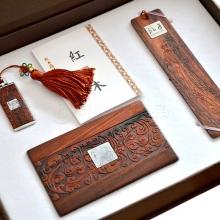 公司企业礼品创意红木商务套装