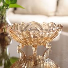 新款水果盘创意时尚欧式玻璃水果盘大果盆