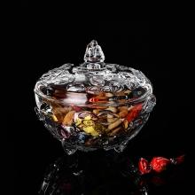 糖缸 水晶玻璃 糖罐 储物罐 装饰罐 透明糖果罐 干果罐