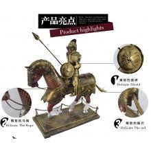 复古欧式摆件家装饰品 手工铁皮骑士模型摆件办公桌摆件商务礼品