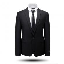 正装西服套装全毛商务一粒扣修身西装婚礼服男上班服装