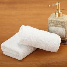 厂家定制白毛巾广告白毛巾洗浴一次性纯棉批发宾馆绣字logo白毛巾