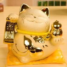 招财猫摆件 大号陶瓷储蓄罐家居装饰 存钱罐商铺开业创意礼品