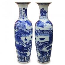 景德镇陶瓷器 清明上河图落地大花瓶现代客厅摆件开业礼品工艺品