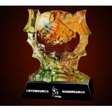 奖牌水晶奖牌奖杯 水晶 定制水晶奖杯定做水晶奖杯 合作双赢琉璃 正规发票 古法琉璃