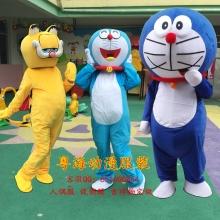 哆啦A梦卡通人偶服装机器猫cos服叮当猫行走道具服加菲猫人偶定做